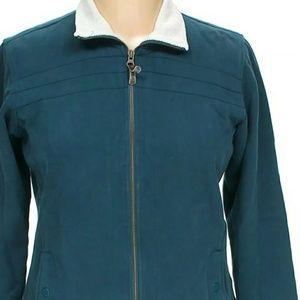 Columbia Women's Size XL Soft Fleece Blue Full Zip